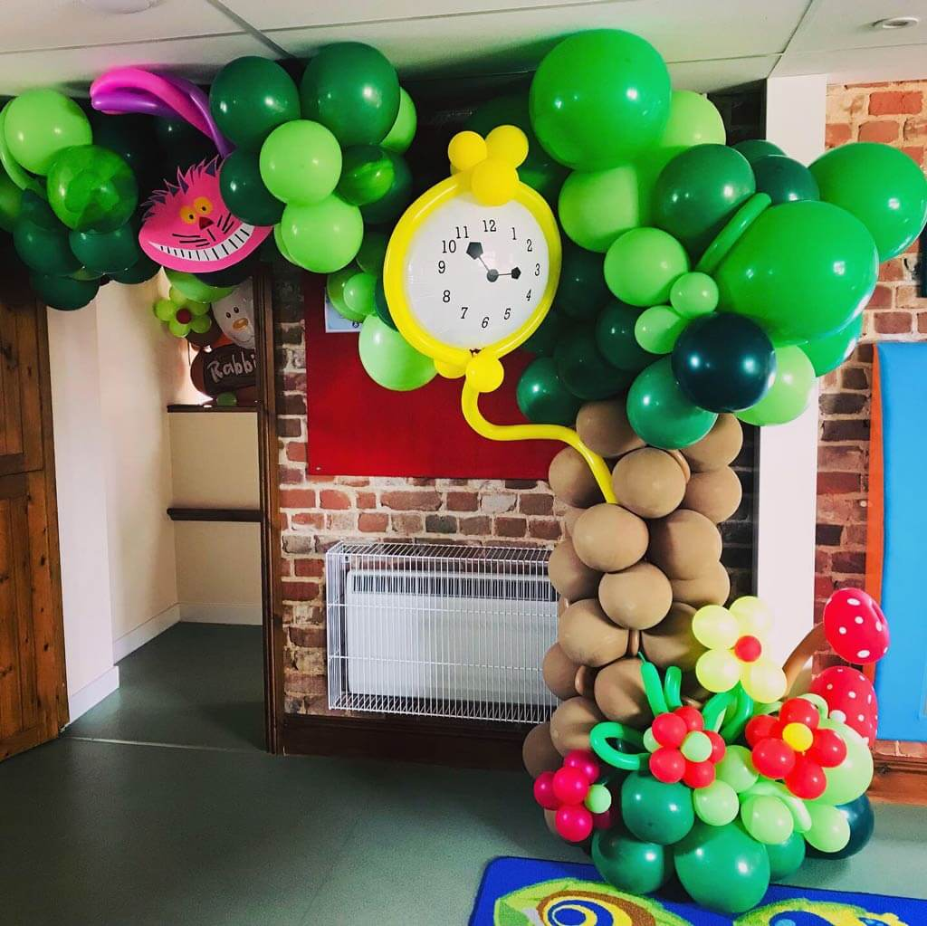 Alice in Wonderland Balloons at Active Tots in Hampshire