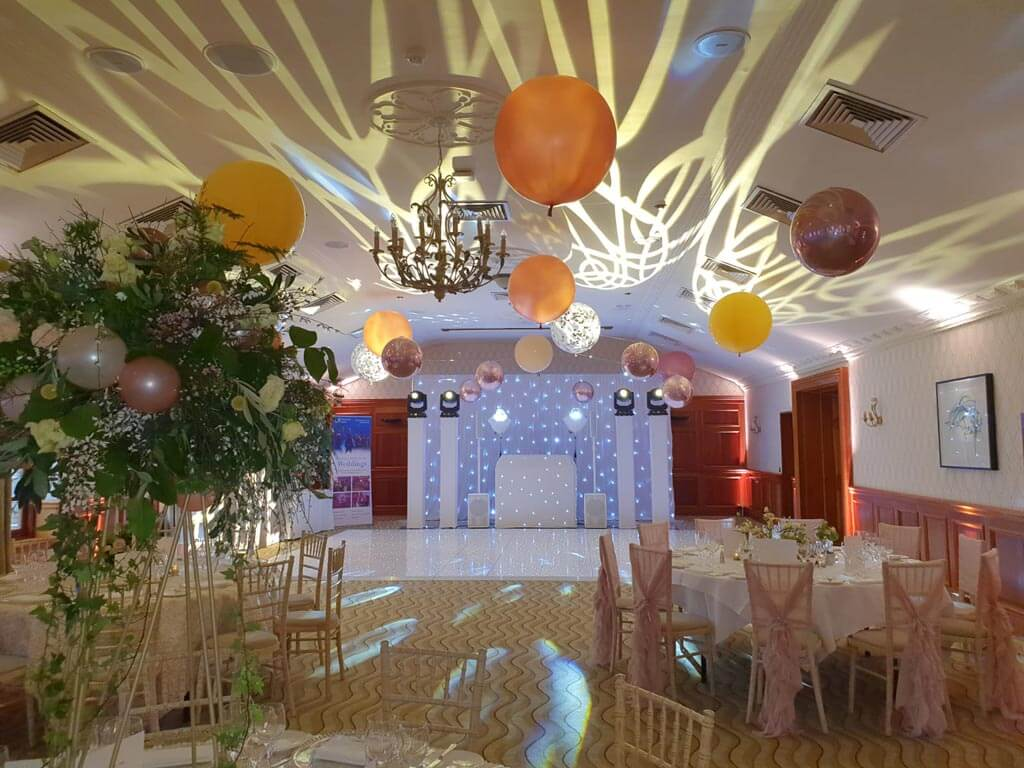 Pennyhill Park suspended balloon ceiling Airmagination Surrey 2 1