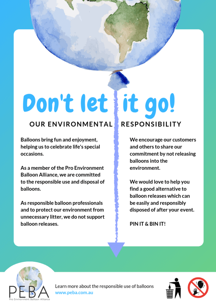 Balloons And The Environment - Dont let it Go! Our Environmental Responsibility.